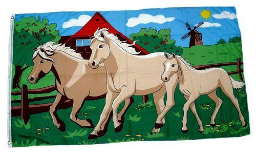 Fahne / Flagge Pferde Pferdefahne 90 x 150 cm