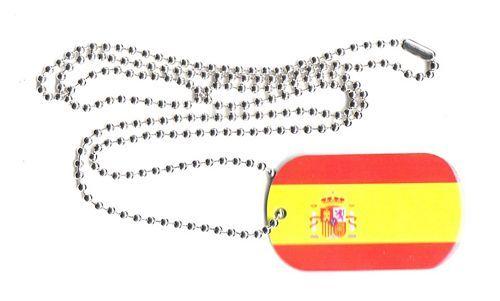 Dog Tag Fahne Spanien