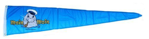 Langwimpel Moin Moin Seehund Pfeife 30 x 150 cm