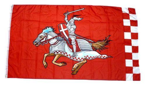 Fahne / Flagge Ritter mit Pferd rot 90 x 150 cm
