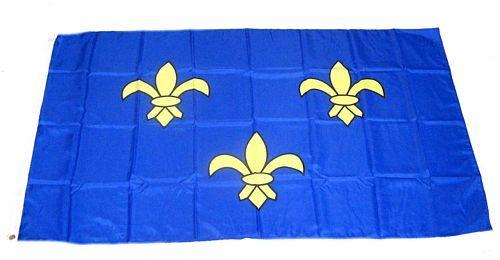 Flagge Fahne Frankreich - Ile de France 90 x 150 cm