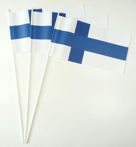 10 Papierfähnchen Finnland Papierfahnen Fahne Flagge