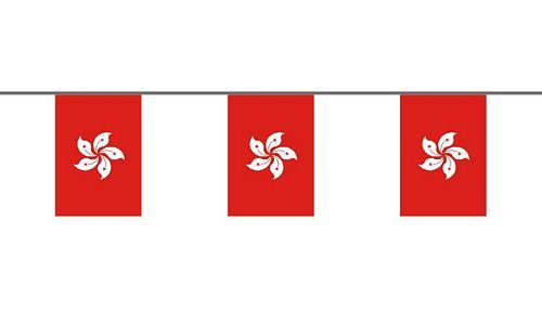 Flaggenkette Hong Kong 6 m