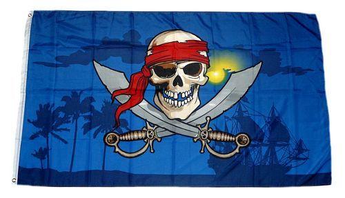 Fahne / Flagge Pirat Karibik 90 x 150 cm