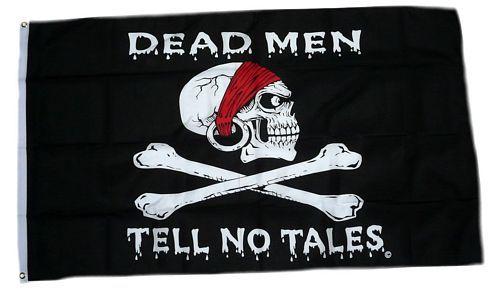 Fahne / Flagge Pirat Dead Men Tell no Tales 90 x 150 cm