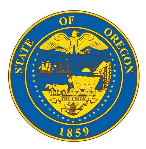 Fahnen Aufkleber Sticker Siegel USA - Oregon