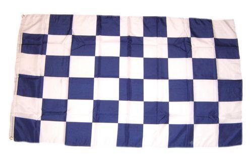 Fahne / Flagge Karo blau / weiß 150 x 250 cm