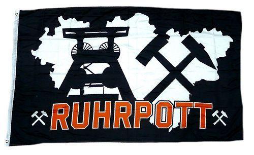 Fahne / Flagge Ruhrpott schwarz 90 x 150 cm
