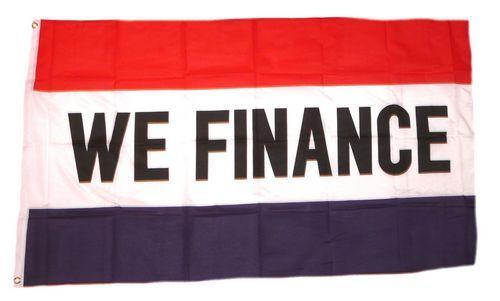 Fahne / Flagge We Finance 90 x 150 cm