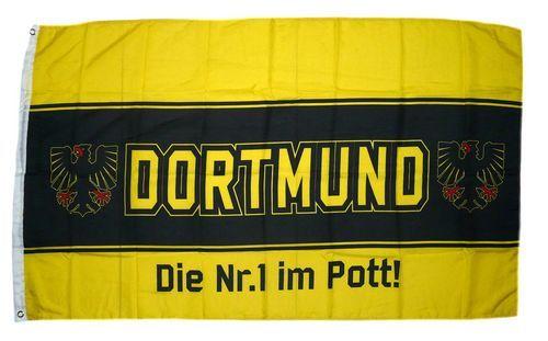 Fahne / Flagge Dortmund Die Nr. 1 im Pott 90 x 150 cm