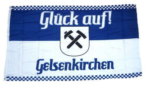 Fahne / Flagge Glück auf! Gelsenkirchen 90 x 150 cm