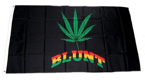 Fahne / Flagge Hanfblatt Blunt 90 x 150 cm