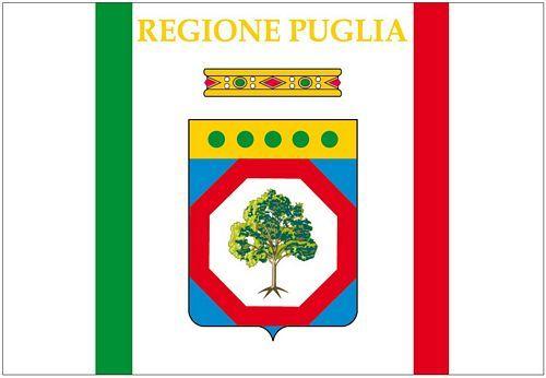 Fahnen Aufkleber Sticker Italien - Apulien Puglia