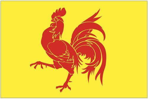 Fahnen Aufkleber Sticker Belgien - Wallonien