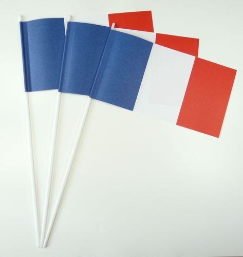 10 Papierfähnchen Frankreich Papierfahnen Fahne Flagge