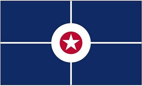 Fahne / Flagge USA - Indianapolis 90 x 150 cm