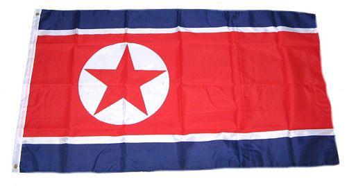 Flagge / Fahne Nordkorea Hissflagge 90 x 150 cm