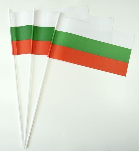 10 Papierfähnchen Bulgarien Papierfahnen Fahne Flagge