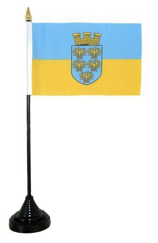 Tischfahne Österreich - Niederösterreich 11 x 16 cm Fahne Flagge