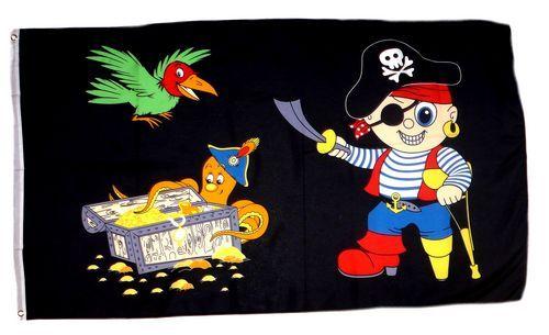 Fahne / Flagge Pirat Party Kinderpirat 60 x 90 cm