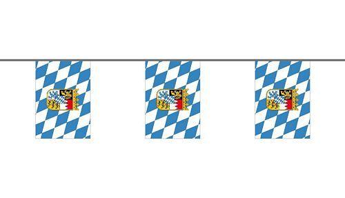 Flaggenkette Bayern Wappen 6 m