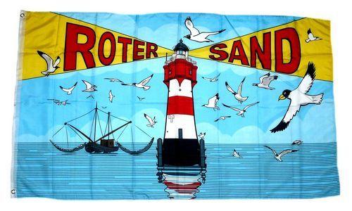 Fahne / Flagge Roter Sand Leuchtturm Möwen 90 x 150 cm