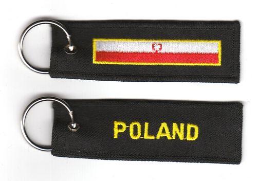 Fahnen Schlüsselanhänger Polen Adler