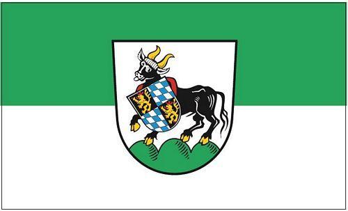 Fahne / Flagge Auerbach Oberpfalz 90 x 150 cm
