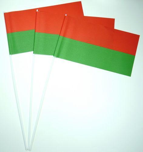Papierfahnen rot / grün