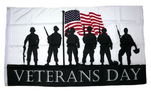 Fahne / Flagge Veterans Day 90 x 150 cm