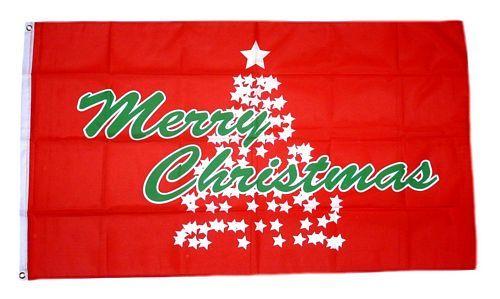 Fahne / Flagge Merry Christmas Weihnachtsbaum 90 x 150 cm