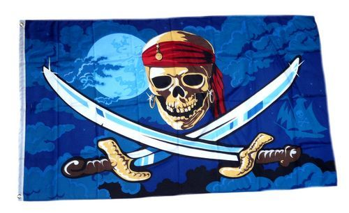 Fahne / Flagge Pirat Fluch der Meere 90 x 150 cm