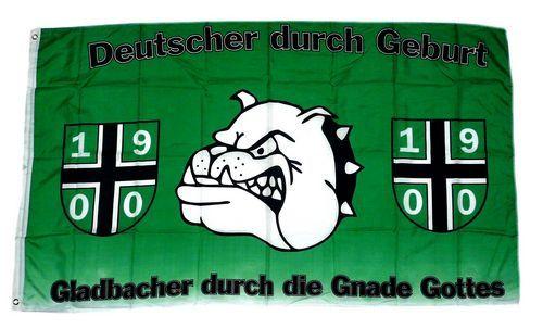 Fahne / Flagge Gladbacher durch die Gnade Gottes 90 x 150 cm